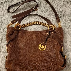 Michael Kors Tristan tote leather shoulder bag EUC